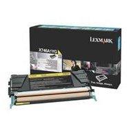 Kaseta z tonerem Lexmark do X-746/748 | zwrotny | 7 000 str. | yellow