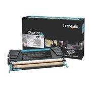Kaseta z tonerem Lexmark do X-746/748 | zwrotny | 7 000 str. | cyan