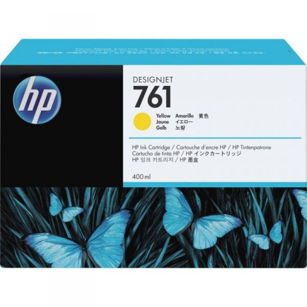 Tusz HP 761 do Designjet T7100/T7200   400ml   yellow