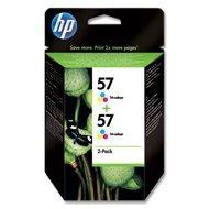 Zestaw dwóch tuszy HP 57 do Deskjet 450/5550, PSC 1215/2210 | 2 x 17ml | CMY