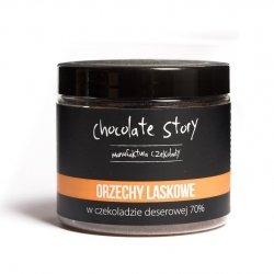 Orzech laskowy w deserowej czekoladzie 70% 120g