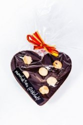 Czekoladowe SERCE z mlecznej czekolady z orzechami laskowymi 75g