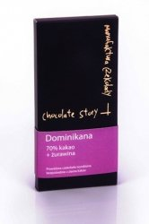 Czekolada deserowa [70% kakao z Dominikany] + Żurawina 55g