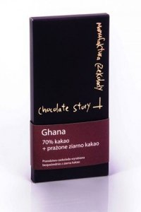 Czekolada deserowa [70% kakao z Ghany] + prażone ziarno kakao 50g