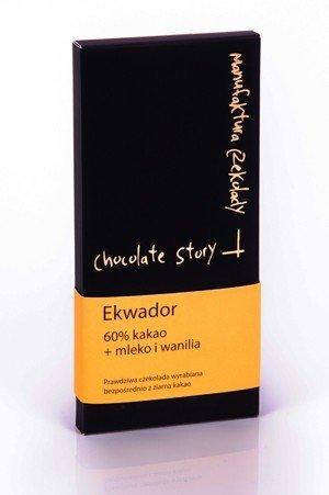 [60% kakao z Ekwadoru] + wanilia i mleko 50g