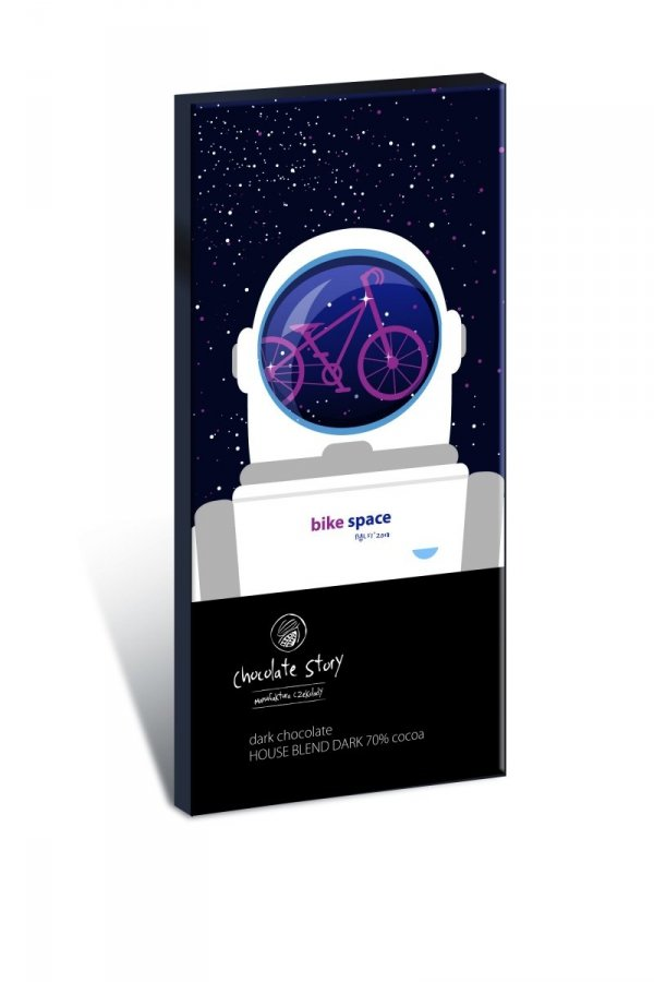 Czekolada ciemna Bike Space House Blend Dark 70% kakao z plakatem BALSI 50g