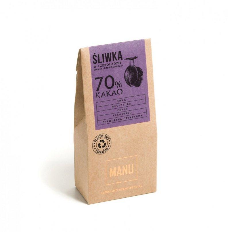 Śliwka w czekoladzie ciemnej 70% kakao