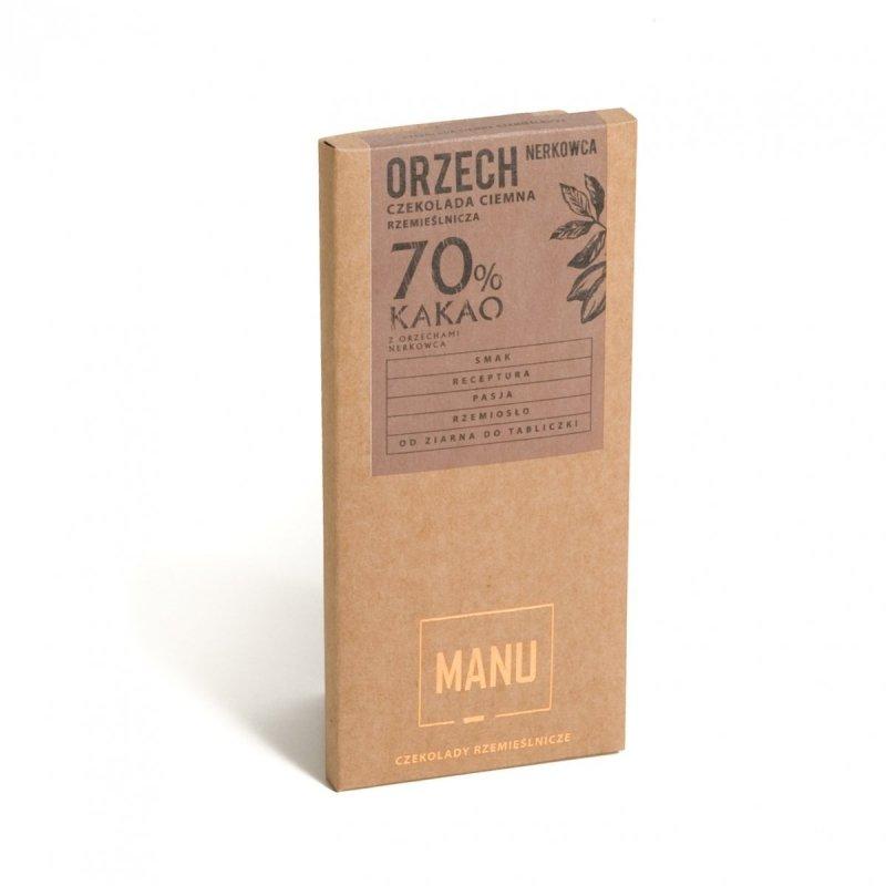 MANU Orzech nerkowca czekolada deserowa 70% 60g