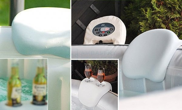 Zestaw Comfort mSpa podgłówki + uchwyt na napoje