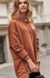 Asymetryczna bluza damska karmelowa Numinou NU250-1