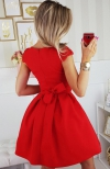 Bicotone 2139-02 sukienka czerwona tył