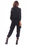 Spodnie joggery cargo czarne A293 tył