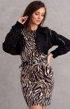 Welurowa mini sukienka zebra 0313/K05-1