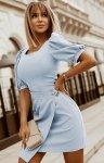 Bicotone sukienka wizytowa z broszką  2222-05