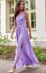 Elegancka szyfonowa sukienka fioletowa 0213