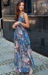 Szyfonowa długa sukienka letnia kolorowa 0209 R76