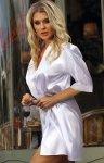 Dkaren 90 szlafrok damski biały