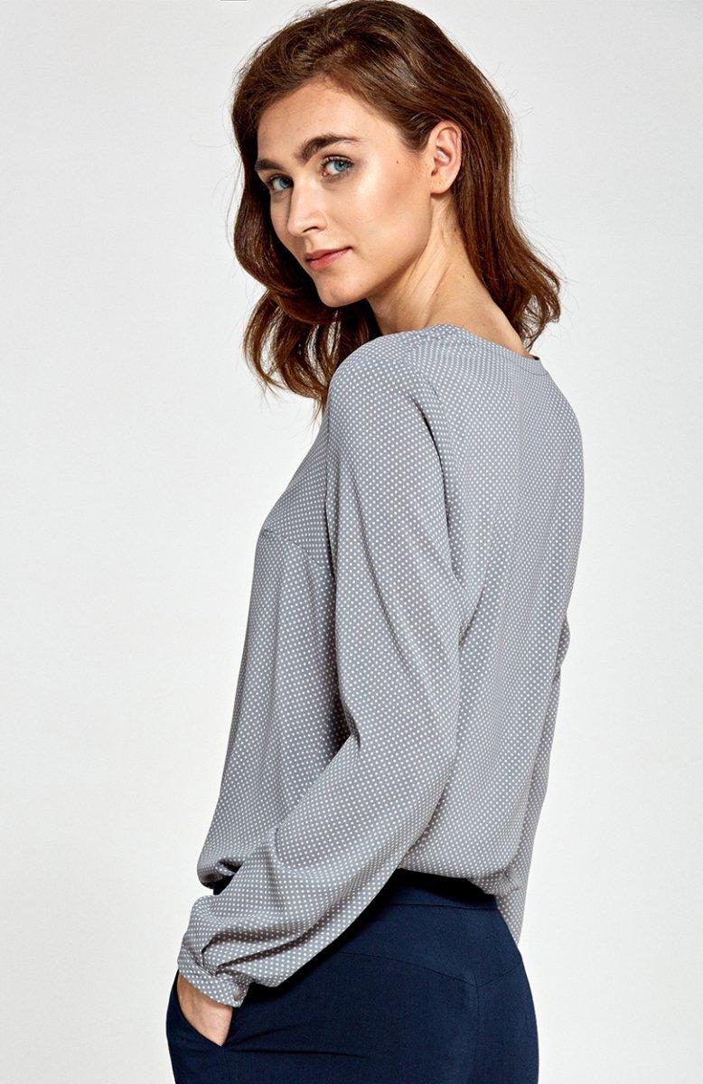 76c1f5c34e8538 Nife B80 bluzka szara - Bluzki i Koszule damskie - Eleganckie bluzki ...