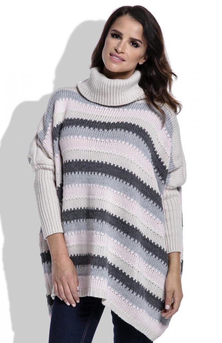 1ba268be FIMFI I211 sweter beżowy