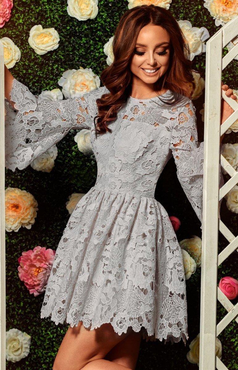 908b2aef12 Lemoniade L262 sukienka szara - Sukienki na wesela i imprezy ...