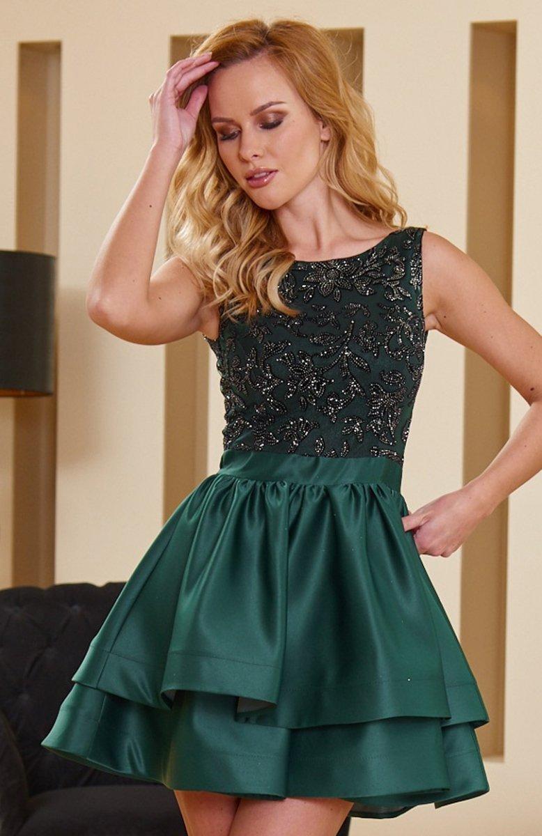931391d0b1 Roco 0173 sukienka zielona - Sukienki rozkloszowane i wieczorowe ...