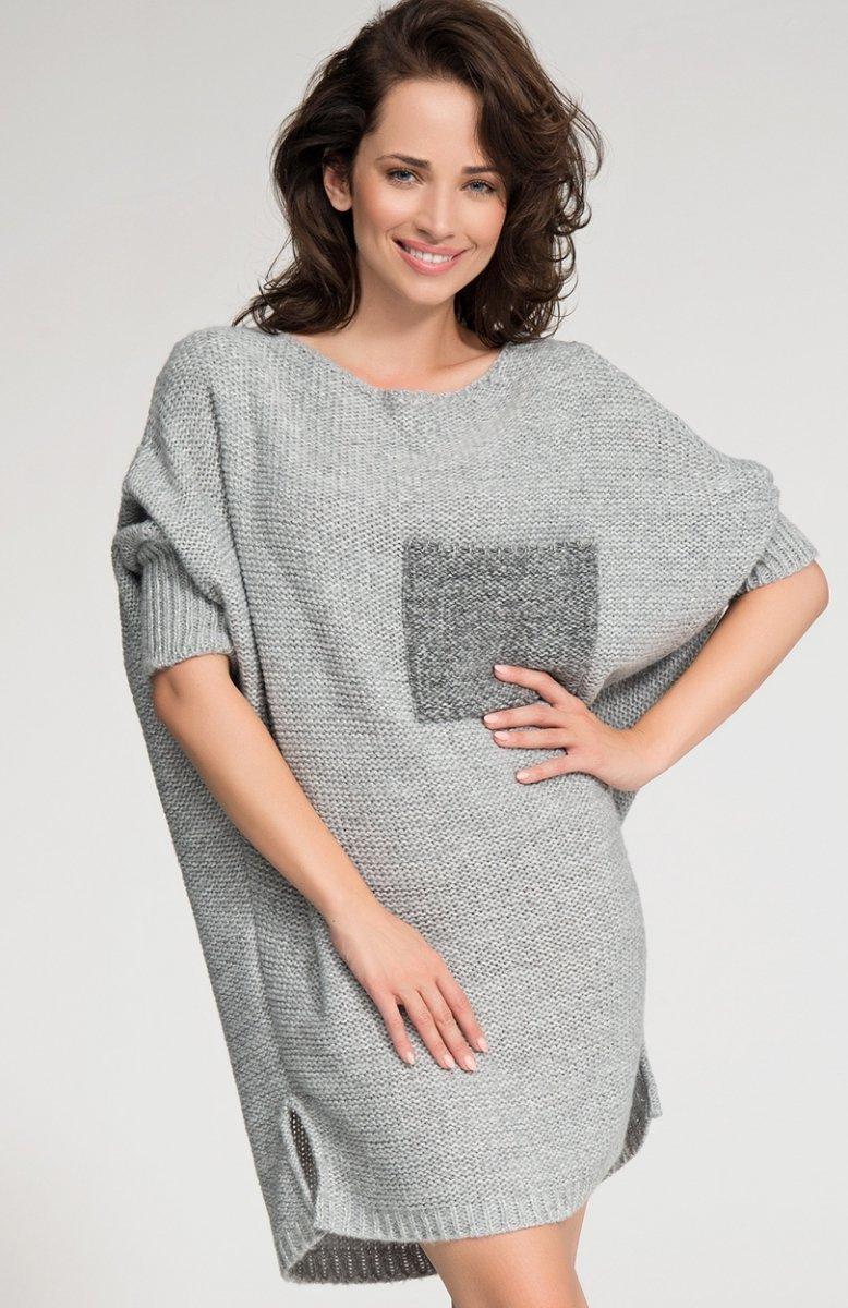 f3f9a7ef83 Numinou S04 sweter szary - Swetry i Narzutki damskie - Modna odzież ...