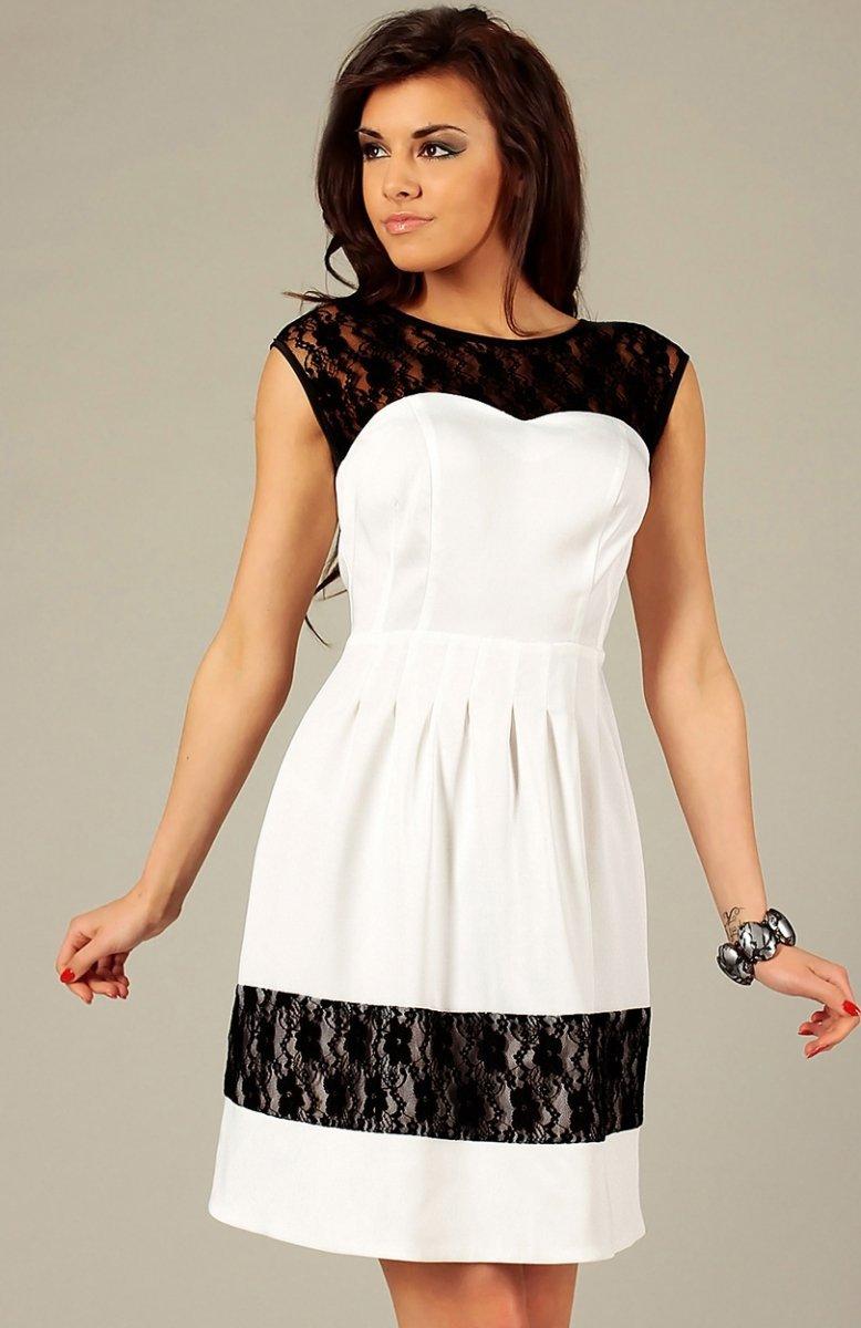 fede68d060 Vera Fashion Chiara sukienka ecru - Sukienki wizytowe Vera Fashion ...
