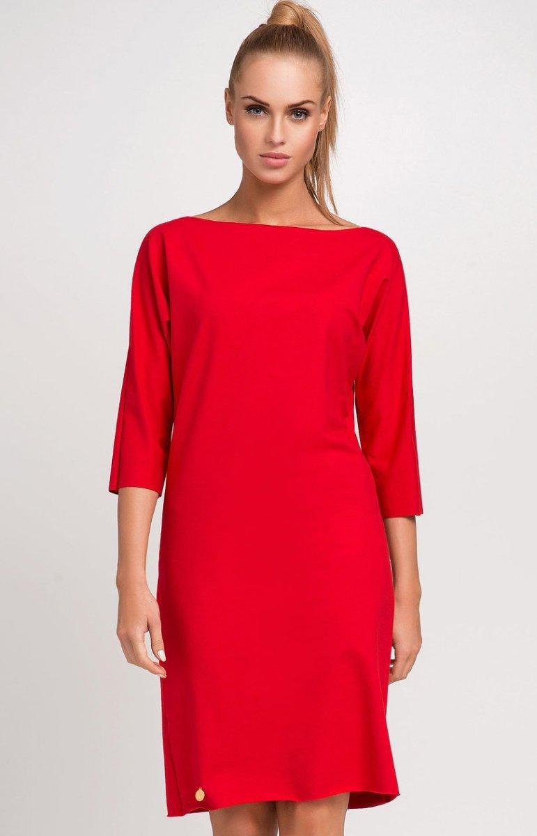 111ac91123 Makadamia M236 sukienka czerwona - Sukienki i Bluzki damskie ...