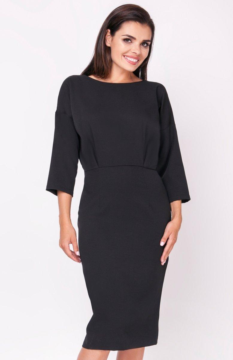 ebb7575675 Nommo NA220 sukienka czarna - Sukienki do biura i do pracy ...