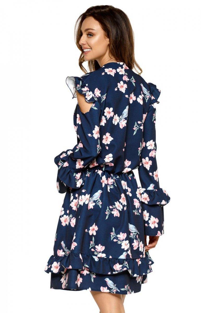 14ca0bab Lemoniade L276 sukienka granatowa w kwiaty - Sukienki na co dzień ...