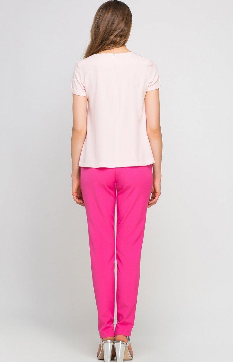 b55a1787 Lanti SD113 spodnie różowe - Eleganckie spodnie damskie - Modne ...