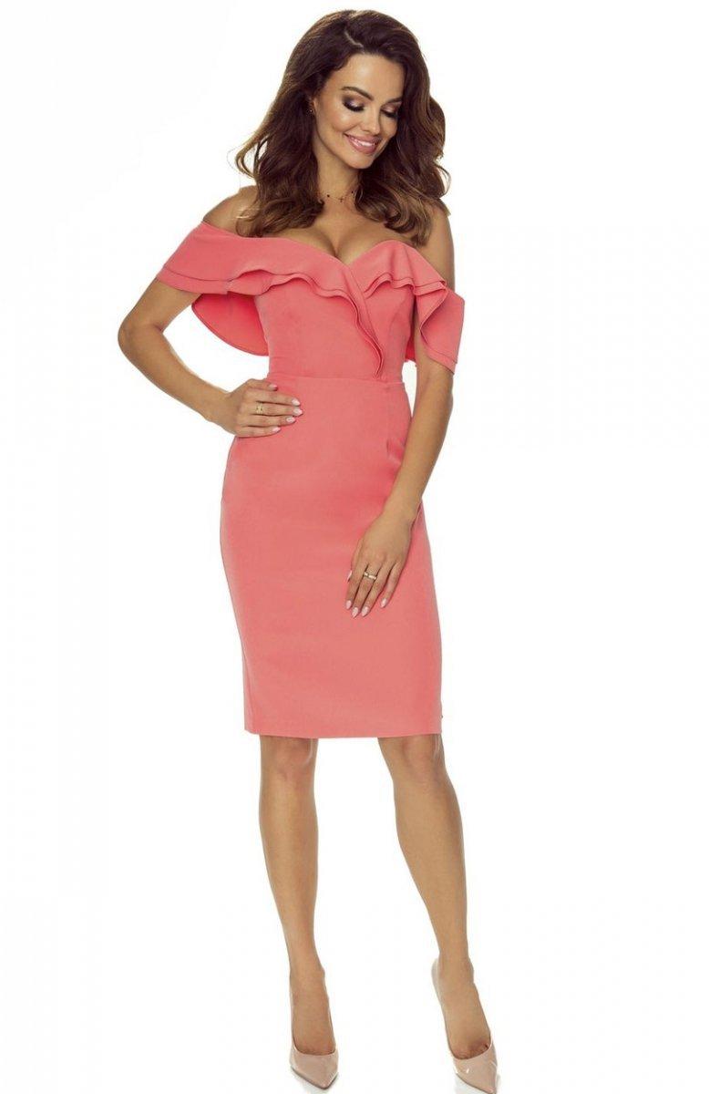 2956dbc9e0 Bergamo Cleo sukienka łososiowa - Sukienka ołówkowa - Sukienki ...