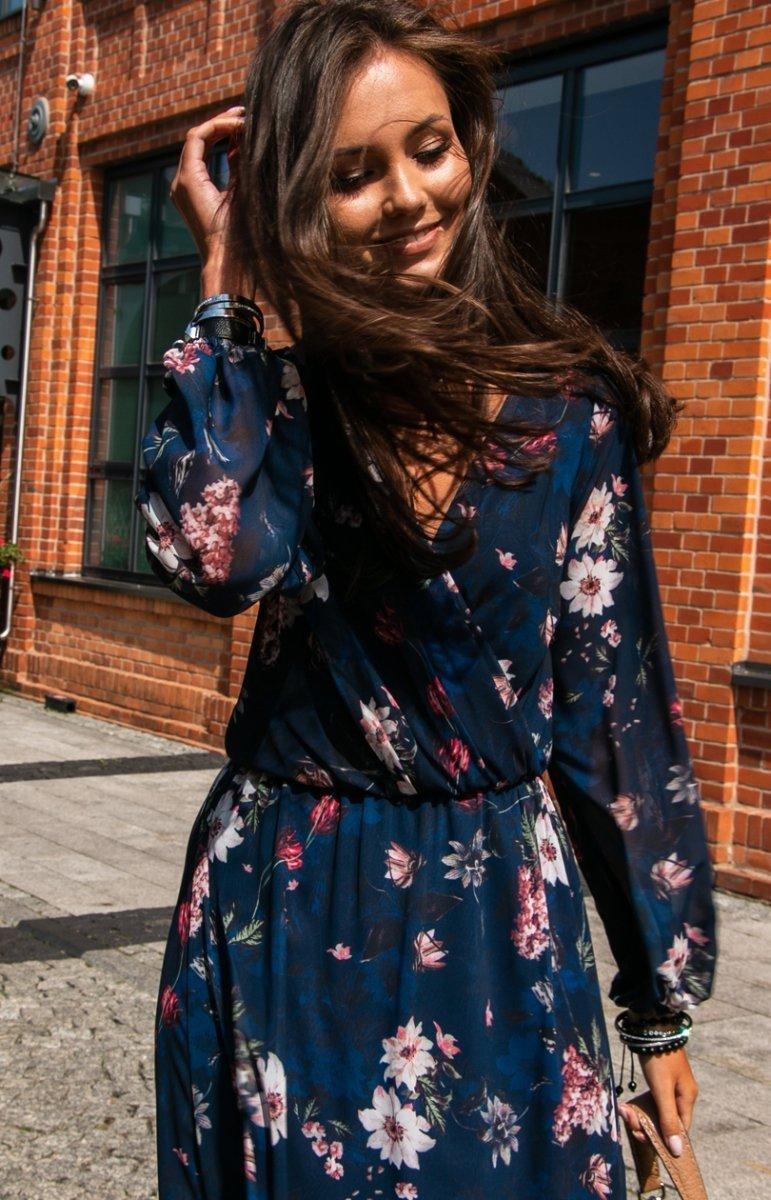 Sukienka midi w kwiaty 0241D55 Sklep Internetowy Intimiti.pl
