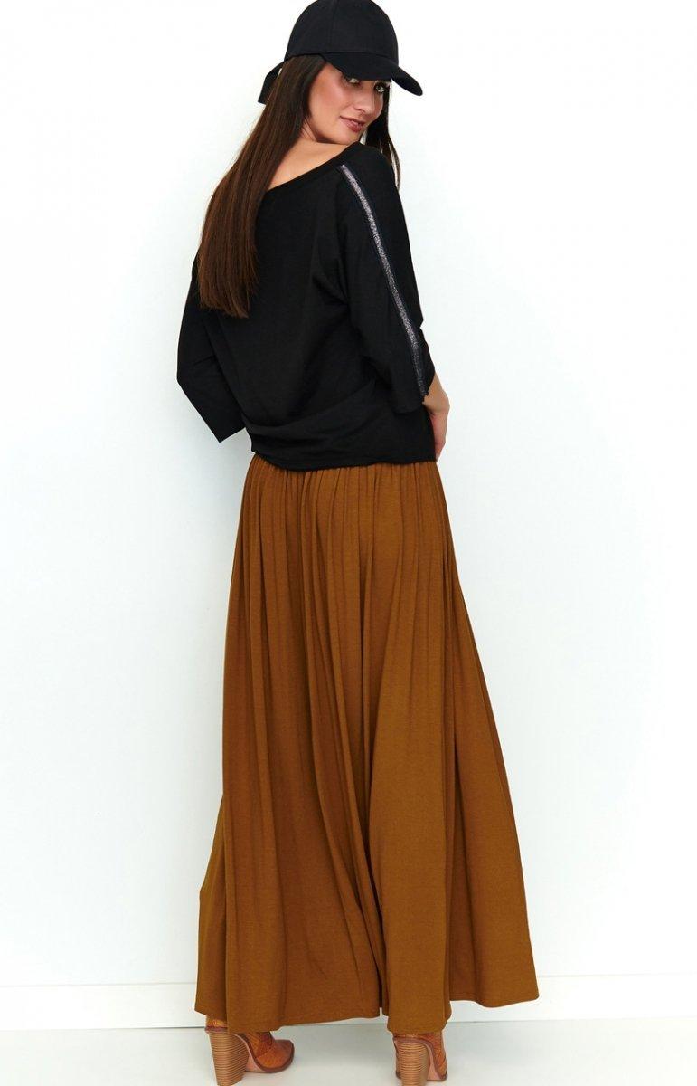 Zwiewna długa spódnica karmelowa NU188