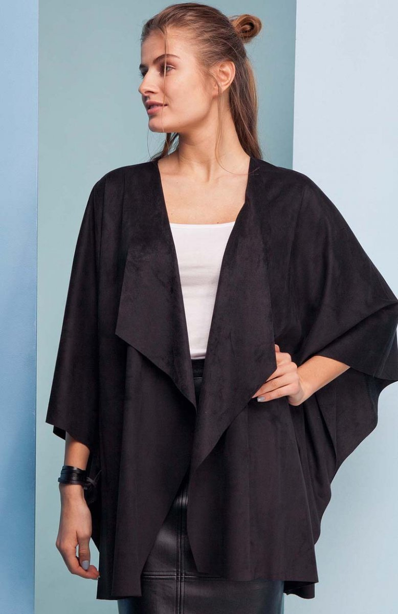 cc3972cb00 Cover GR1436 kardigan czarny - Sweter Oversize - Modne swetry ...