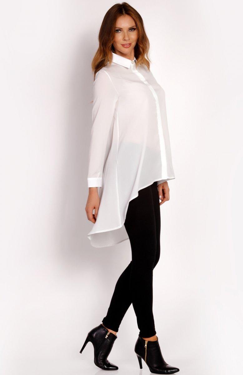 LOU LOU L001 koszula ecru Bluzeczki damskie Eleganckie  78uHr
