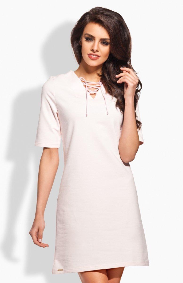36eee3f94b Lemoniade L120 sukienka pudrowy róż - Sukienki damskie Lemoniade ...