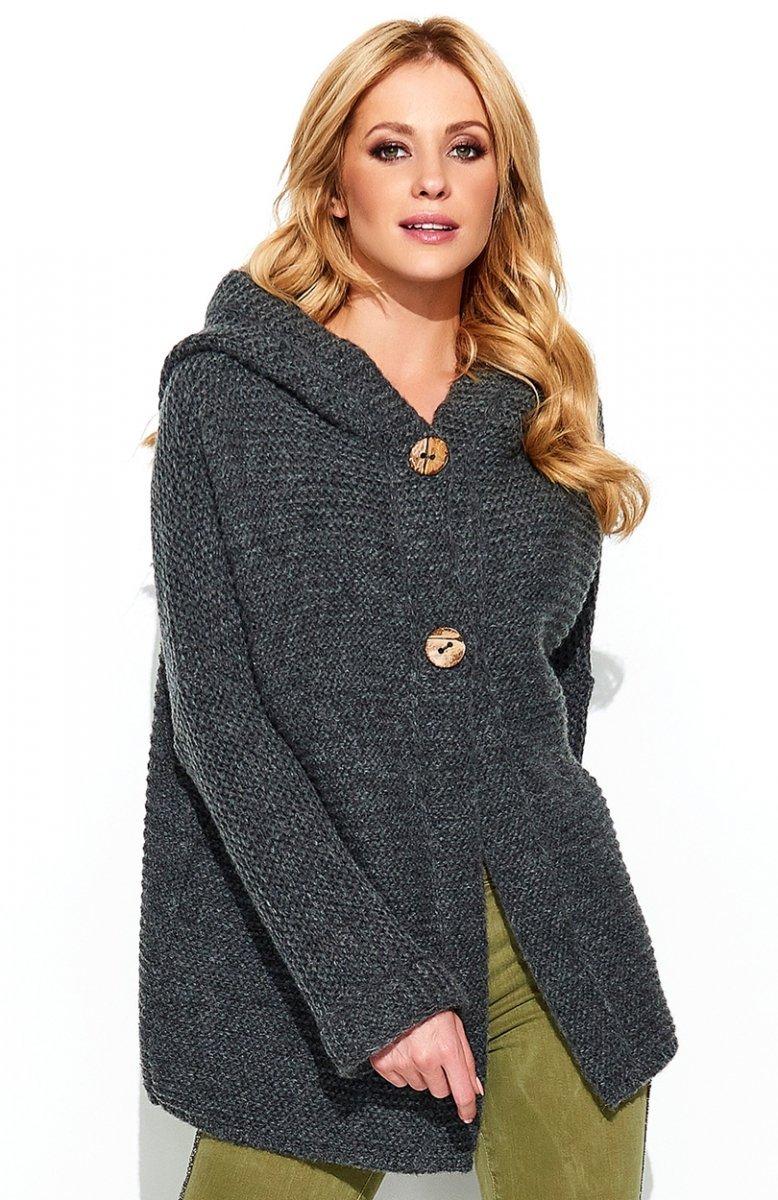 d831bbf5f6cd13 Makadamia S70 sweter grafitowy - Swetry damskie - Odzież damska ...