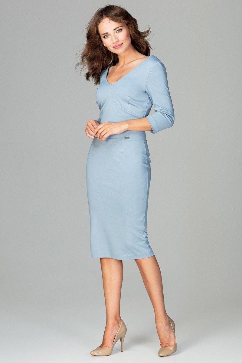 bae963832a Lenitif K476 sukienka niebieska - Sukienki ołówkowe - Sukienki ...
