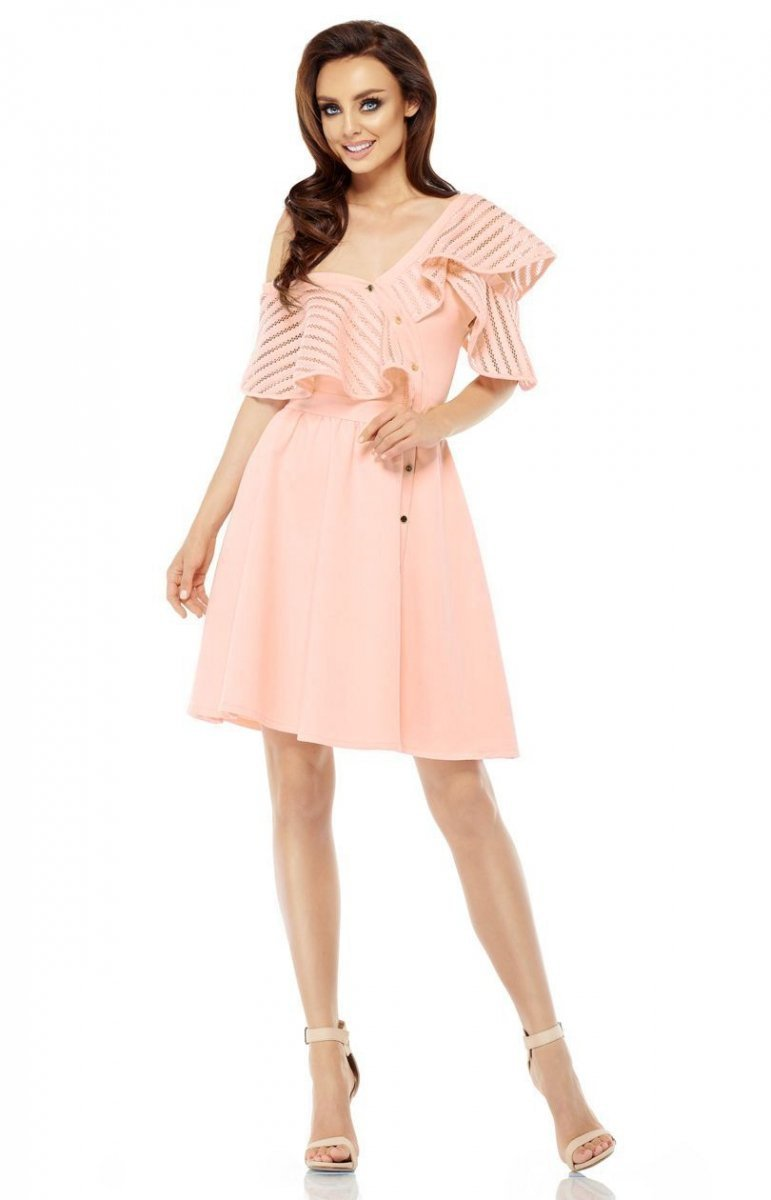 437b45eb8f Lemoniade L246 sukienka morelowa - Sukienki rozkloszowane ...
