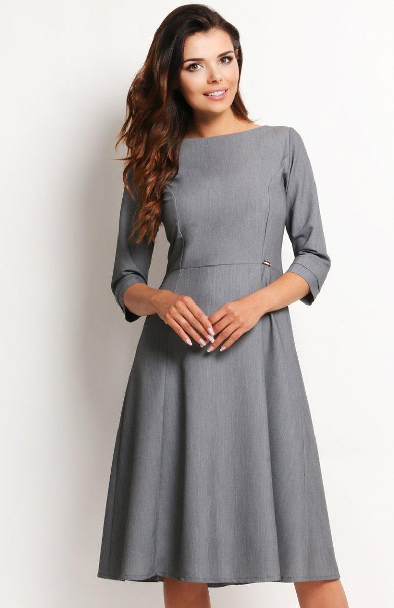 83f5b916bf Awama A112 sukienka szara - Sukienki i Tuniki damskie - Odzież ...