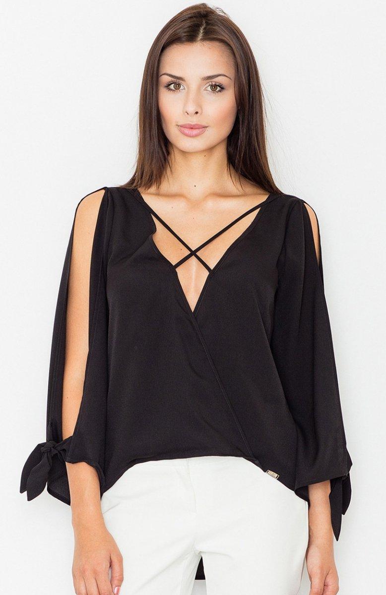 144a0e5ed7 Figl M485 bluzka czarna - Bluzki i Koszule damskie - Eleganckie ...