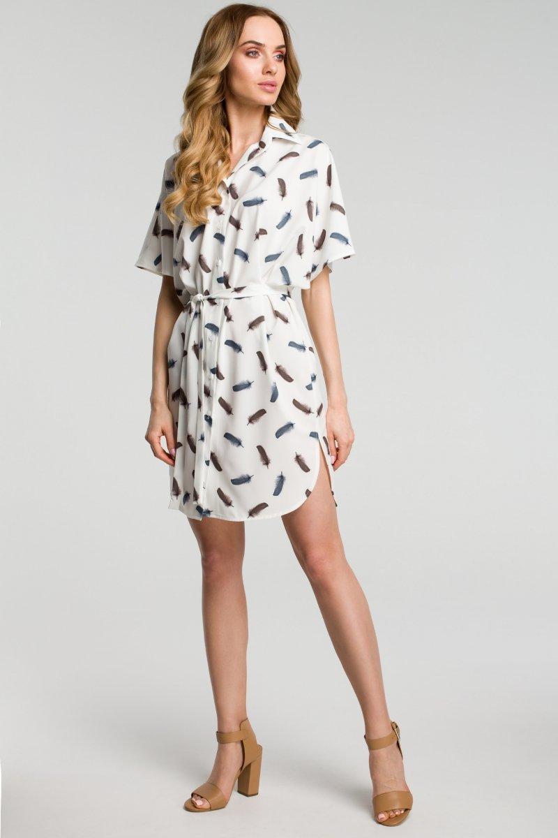 ef5a38542f Moe M385 sukienka ecru - Sukienki dzienne - Sukienki damskie - Moda ...