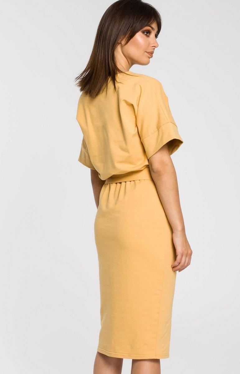 ad09b6e228 BE B062 sukienka żółta - Sukienki na co dzień - Dzienne sukienki ...