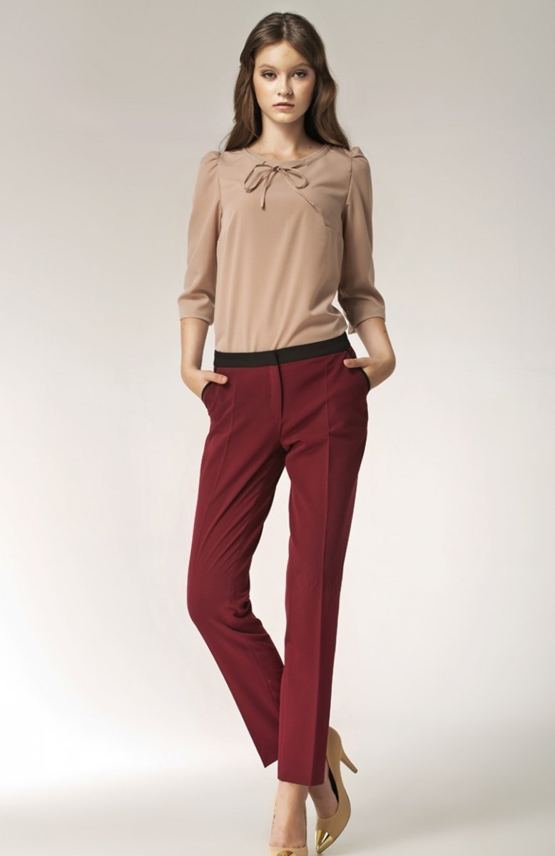 6d3f929b Nife SD07 spodnie bordowe