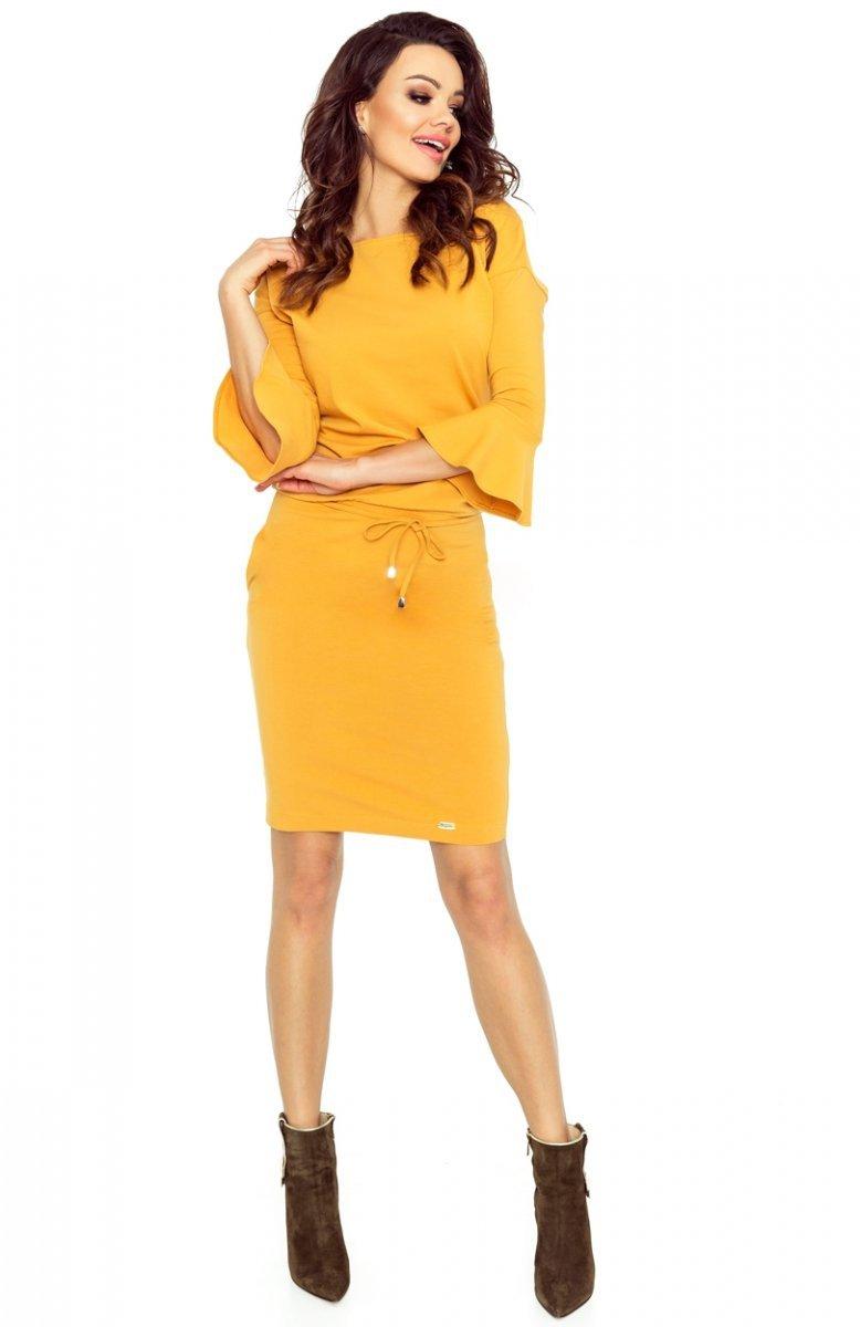 ec117f0f64 Bergamo 80-07 sukienka miodowa - Sukienki dzienne - Moda damska ...