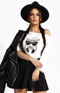 Kobieca bluzka z tygrysem 102-04