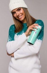 Świąteczny sweter choinki zielone MXS05