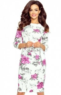 Bergamo Eleonora sukienka w kwiaty fioletowe