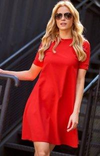 *Makadamia M440 sukienka czerwona